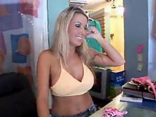 Girl working at bikini shop gets fucked