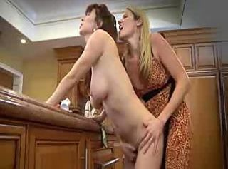 Hot housewives hook beside in the kitchenette