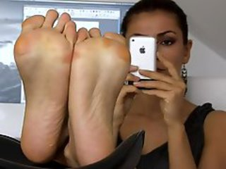 Clothed girls show their beautiful soles