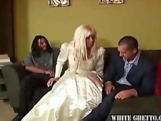 Sexy wife fucks black man on wedding day