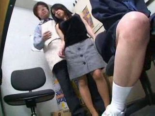 Dirty office coitus with a Japanese