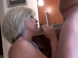 Busty housewife is nailed right on kitchen table