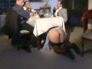The French maid is gangbanged at a party