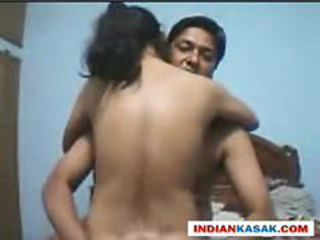 Indian desi couple recording their fuck session on we...