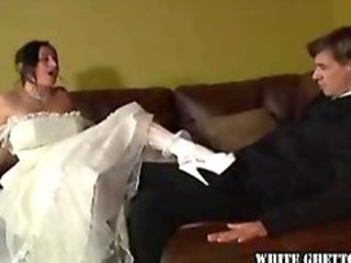 Bride cuckolds her brand new husband