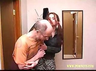 Old Dude Gets A Barely Legal Teen To Suck And Fuck His Cock