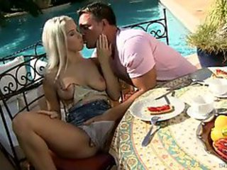 Nasty hot Katrin Wolf teasing her lover for a scorching action outdoor