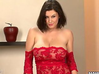 Big boobed honey Sara Stone posing hot just equal to every mans desire