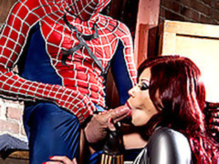 Spider-Man gets a blowjob
