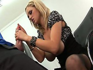 Katie Kox busty babe wanking off hard apropos the office