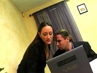 Office chick is horny for cock inside her