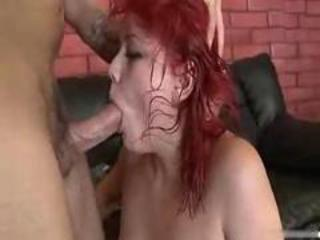 Young redhead abused by the throat and fucked hard -davinci-