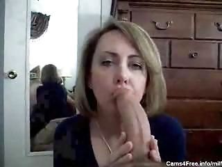 Homemade MILF POV Blowjob and Fa