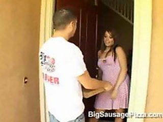 Milf Fucks The Pizza Man!