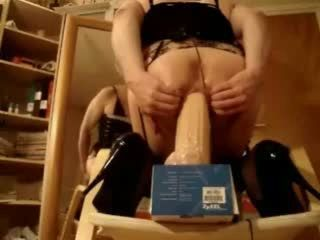 Monia Tgirl and her mega toys