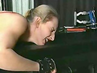Randy Master Spanking Bitch In Stockings