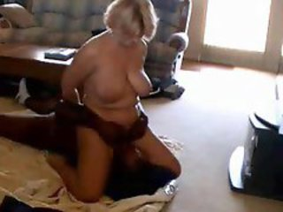 Busty Mature Handles Hard Ebony Prick