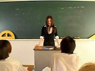 Japanese teacher group screwing