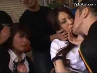 4 office ladies licking each other pussies getting fucked by 2 guys on the office desk