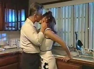 His hot housewife is fucked relevant in the kitchen