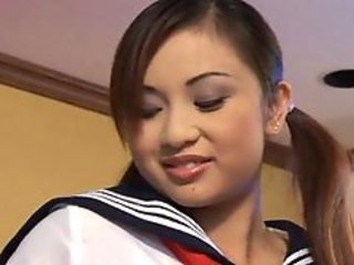 Young Asian Schoolgirl Uniform