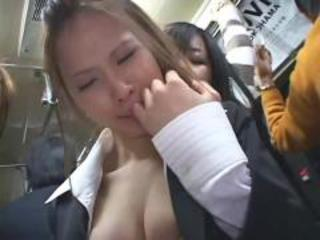 The bus was so hot - japanese bus 9 - horny go-betweens!!