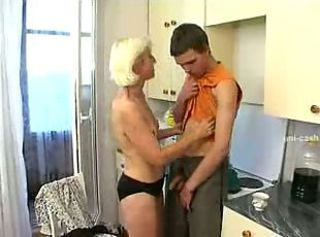 Mom And Son Hot Sex InThe Kitchen