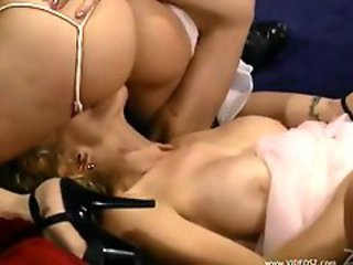 Naughty bride having vampire threesome sex