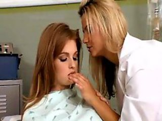 Redhead has lesbian trio concerning doctors office