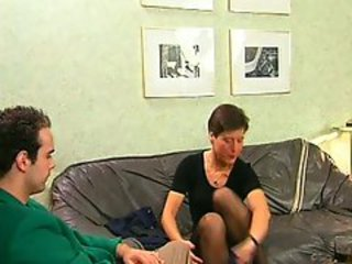 Hairy dude does hot shafting to short haired woman