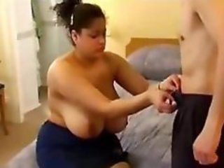 BBW with huge tits sucks plus fucks her boyfriends permanent bushwa