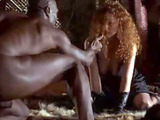 Redhead White Woman With Black Man - Softcore Interracial