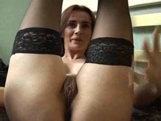 Amateur Mature Shaved Solo Stockings