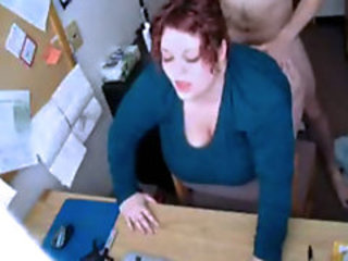 Chubby redhead exgirlfriend fucked in her office