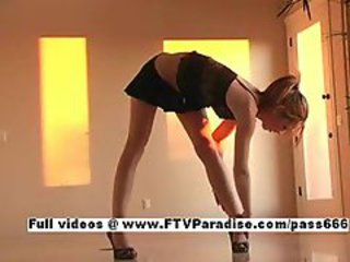 Kymberly from ftv girls, amazing blonde teen masturbating plus dancing
