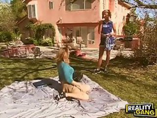 Cheerleader Cute Lesbian Outdoor