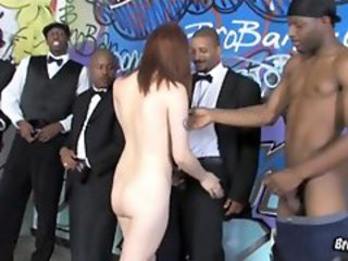 Violet Monroe gets bukkaked by black panthers