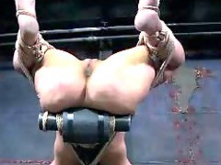 Bondage slut fingered and toyed