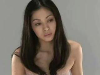 Beautiful  young japanese girl ice cock blowjob