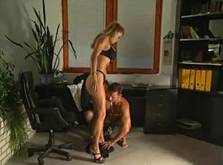 Italian porn goddess fucked in the office