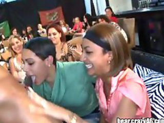 Horny Chicks Eat Cum At Party