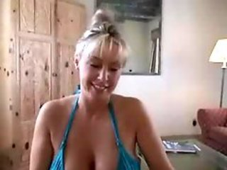 Awesome Wife In Blue Bikini Rendering A Hot Blowjob
