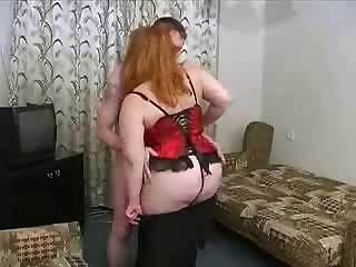 Fat BBW Russian Mature Maw Son