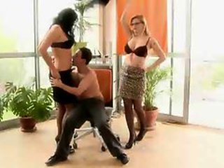 Office Cougars Sharing Hard Tool & Jizz