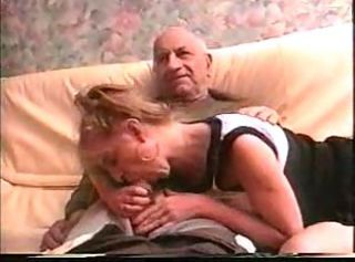French Hooker Blowing Elderly Fat Cock