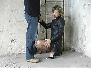 German Fantastci Blow Part 1 Leather Coat Heels