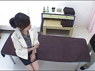 Hot Japanese massage girl fucked permanent