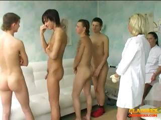 CFNM Groupsex Handjob Nurse Teen