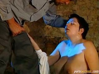 The life in prison is hard. This brunette prisoner is missing the old times, the hard dicks, and the good tasting cum shots. See her in this clip enjoying the nasty dick of the prison guardian.