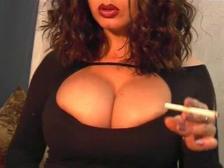 Amazing Babe Big Tits Smoking